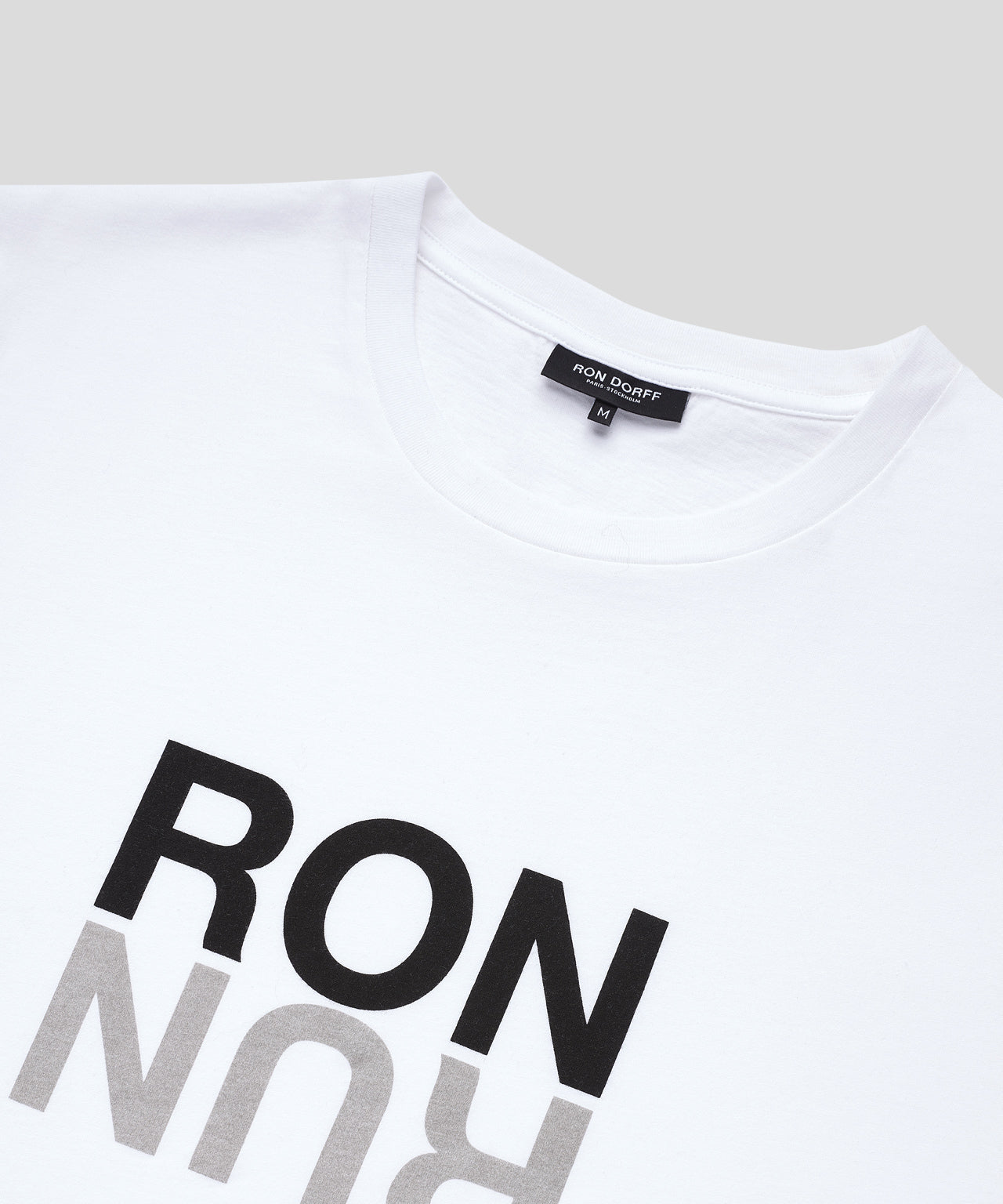 T-Shirt RON RUN His For Her - white