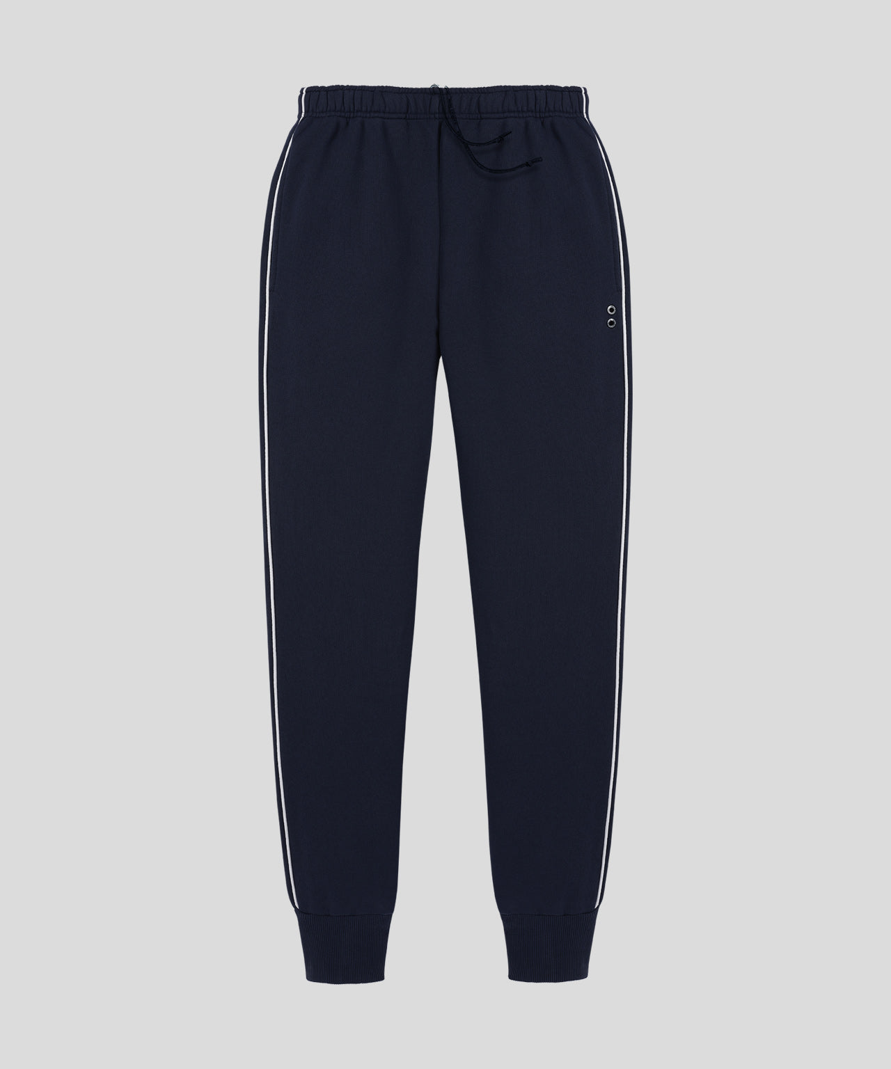 Lounge Pants Piping His For Her - navy/white