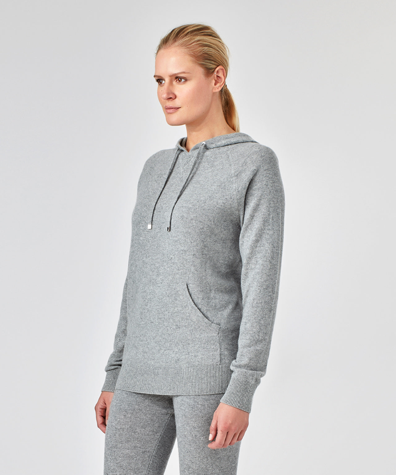 Cashmere Hoodie His For Her - grey melange