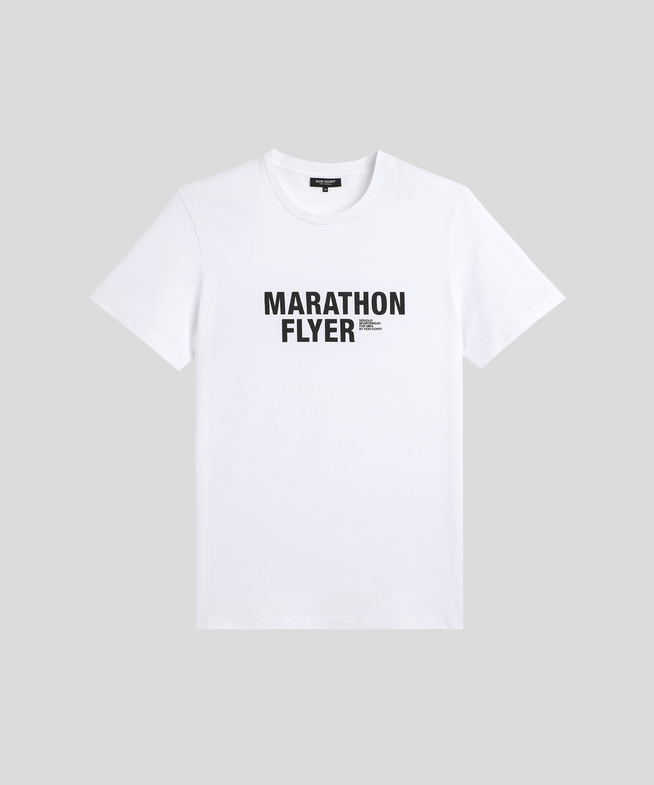 T-Shirt MARATHON FLYER His For Her - white