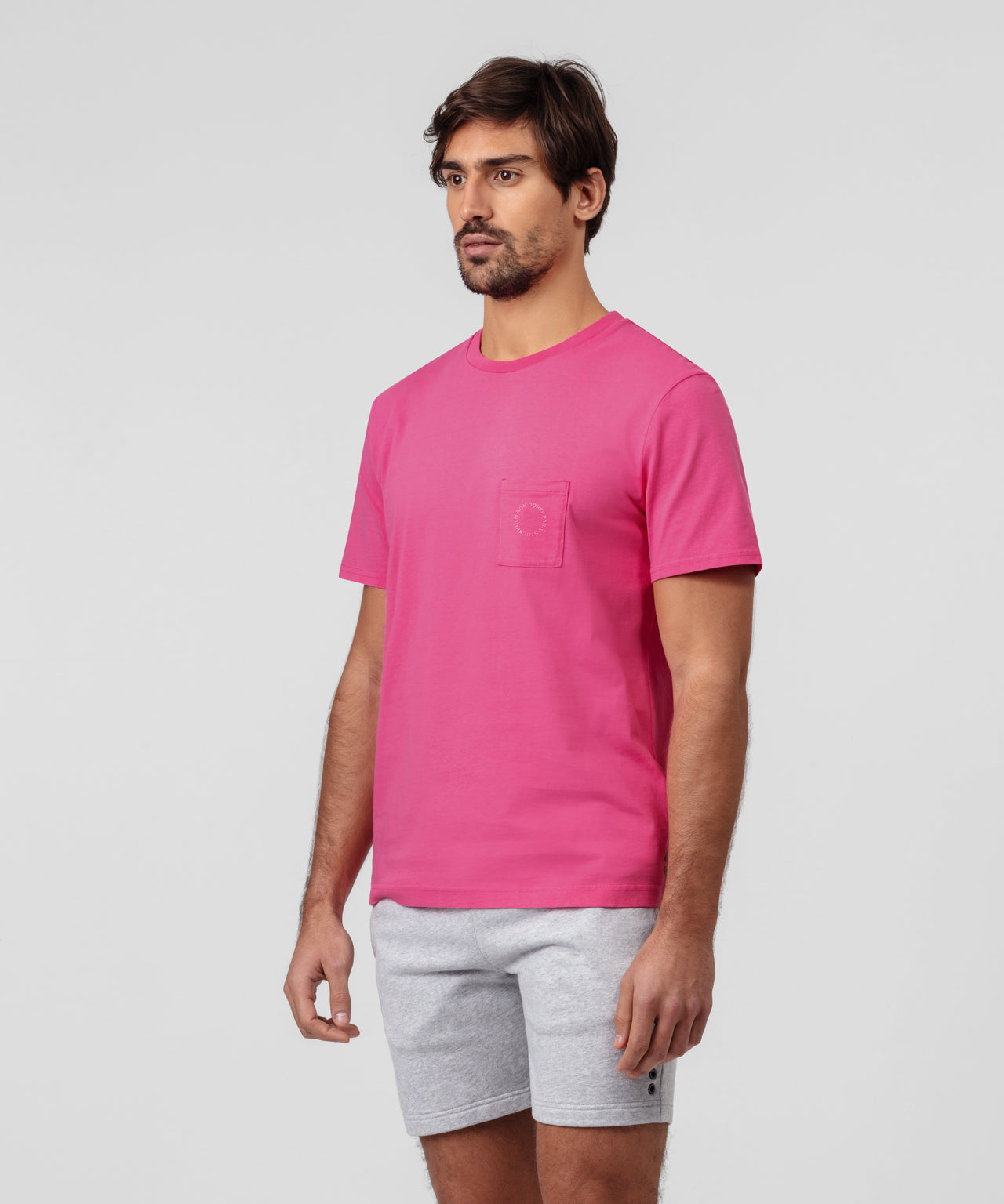 T-Shirt w Chest Pocket - hot pink
