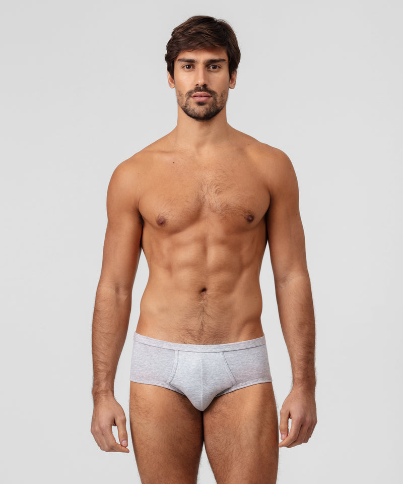 Y-Front Briefs - grey melange