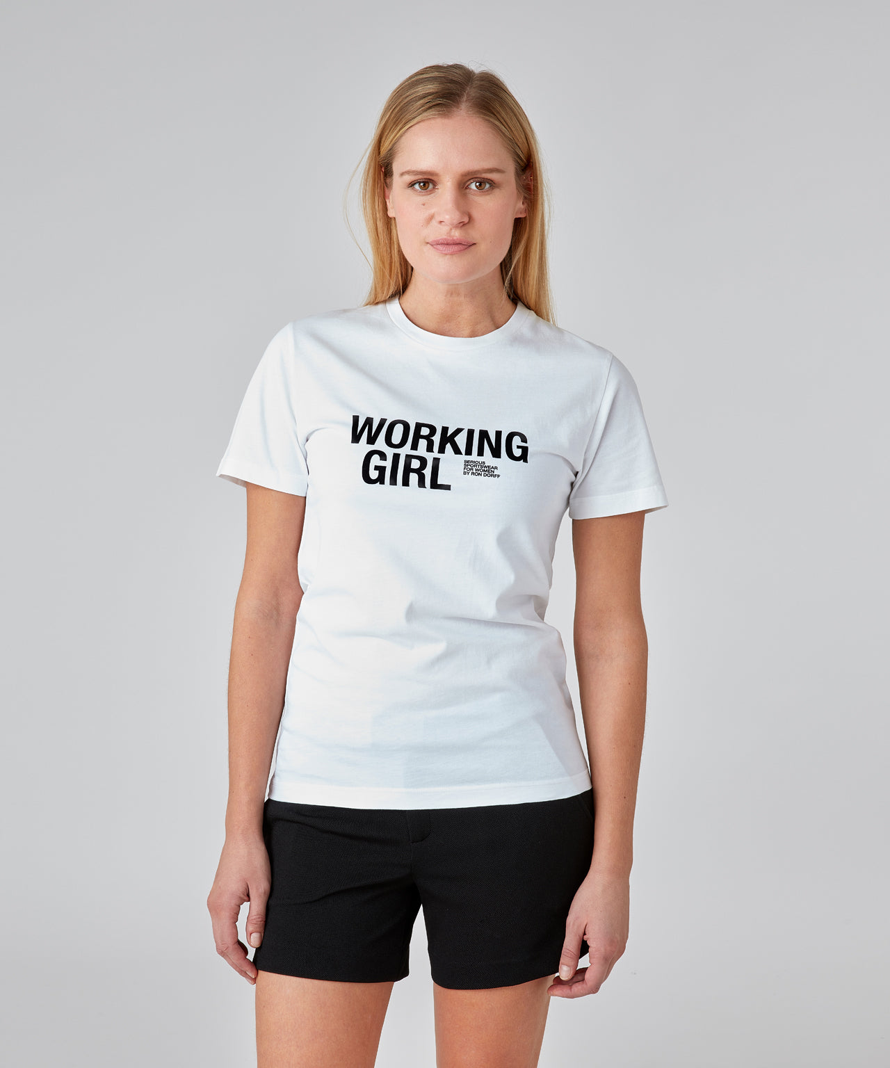 T-Shirt WORKING GIRL His For Her - white