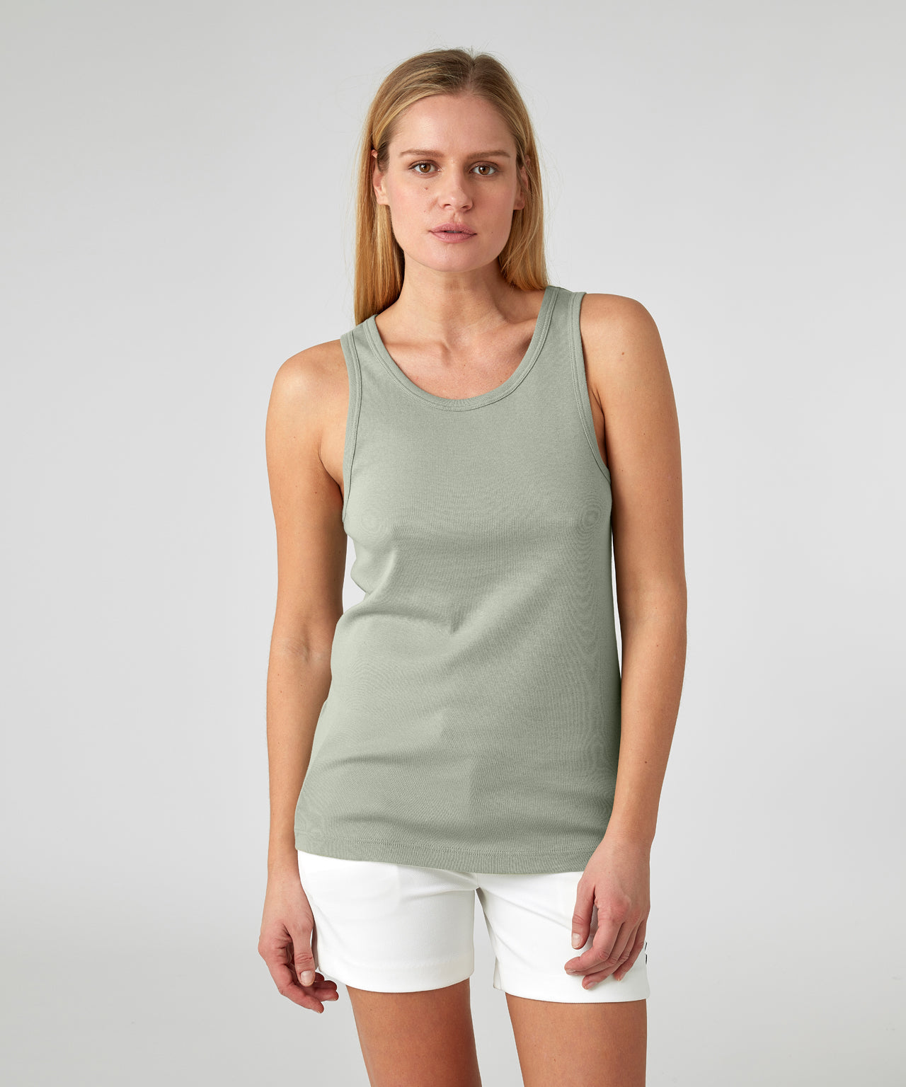 Ribbed Tank Top His For Her - light khaki