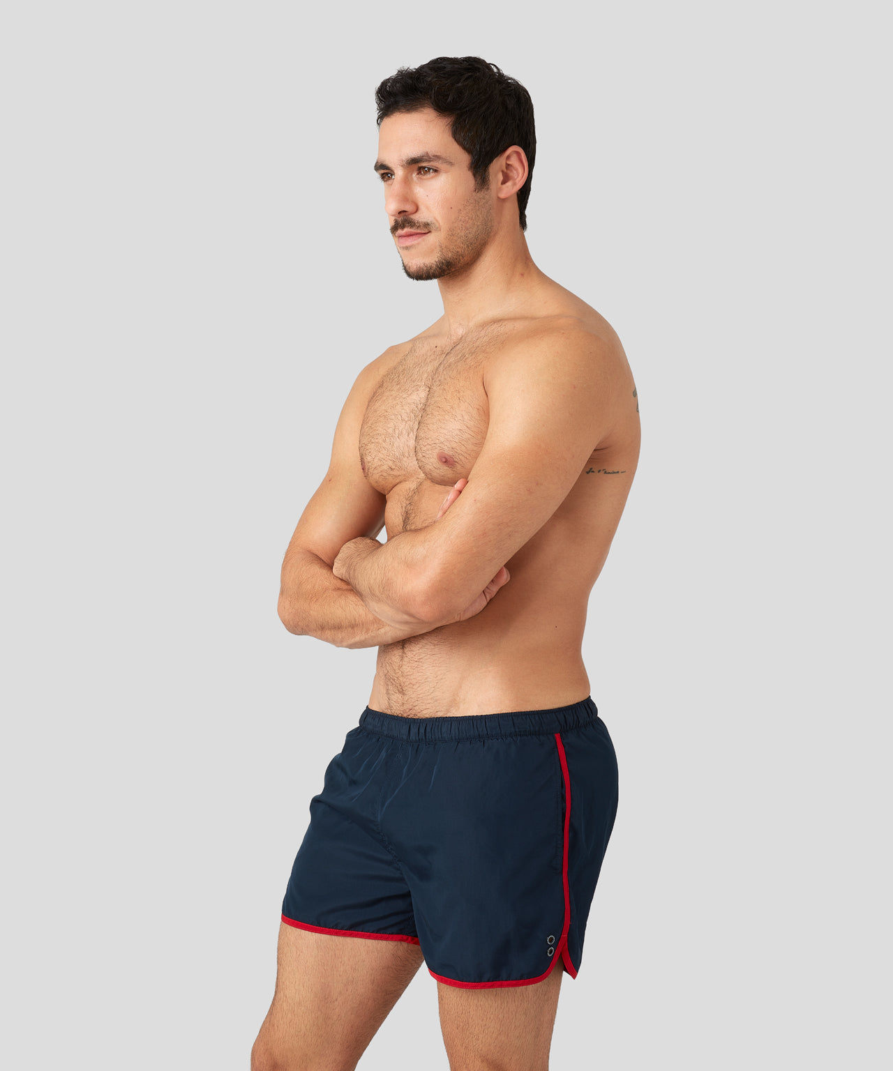 Marathon Swim Shorts - navy / red