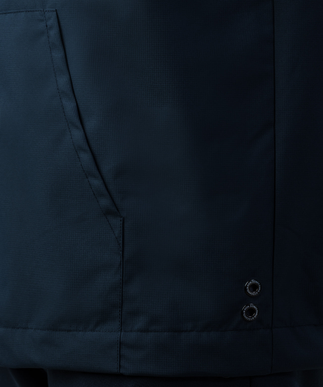 Panelled Zipped Windbreaker - navy