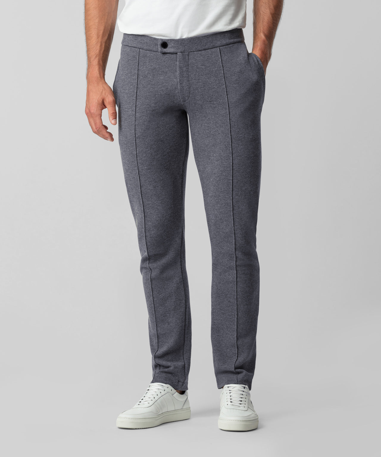 Piqué Tennis Trousers - dark grey melange