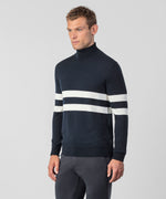 Merino Wool Roll Neck - navy