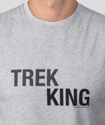 Sleeveless T-Shirt TREK KING - grey melange
