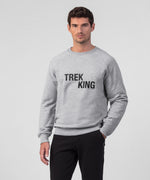 Sweatshirt TREK KING - grey melange