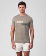 T-Shirt TREK KING - frozen khaki