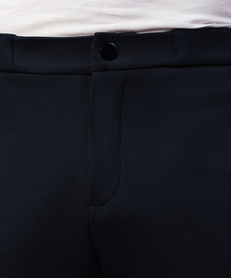 Urban Tennis Trousers With Side Pipings - navy