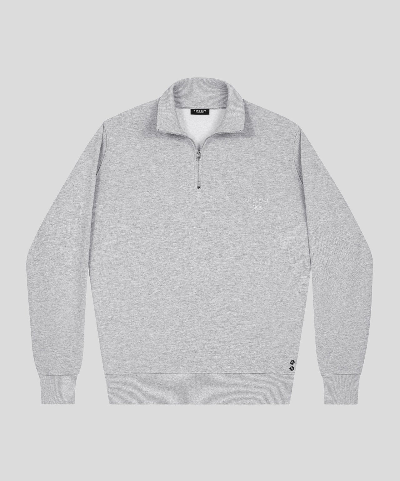 Polo Sweatshirt - grey melange