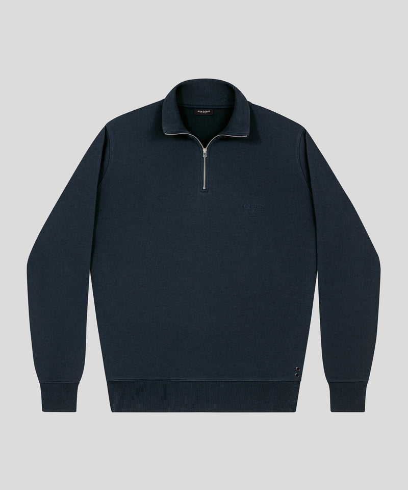 Polo Sweatshirt - navy