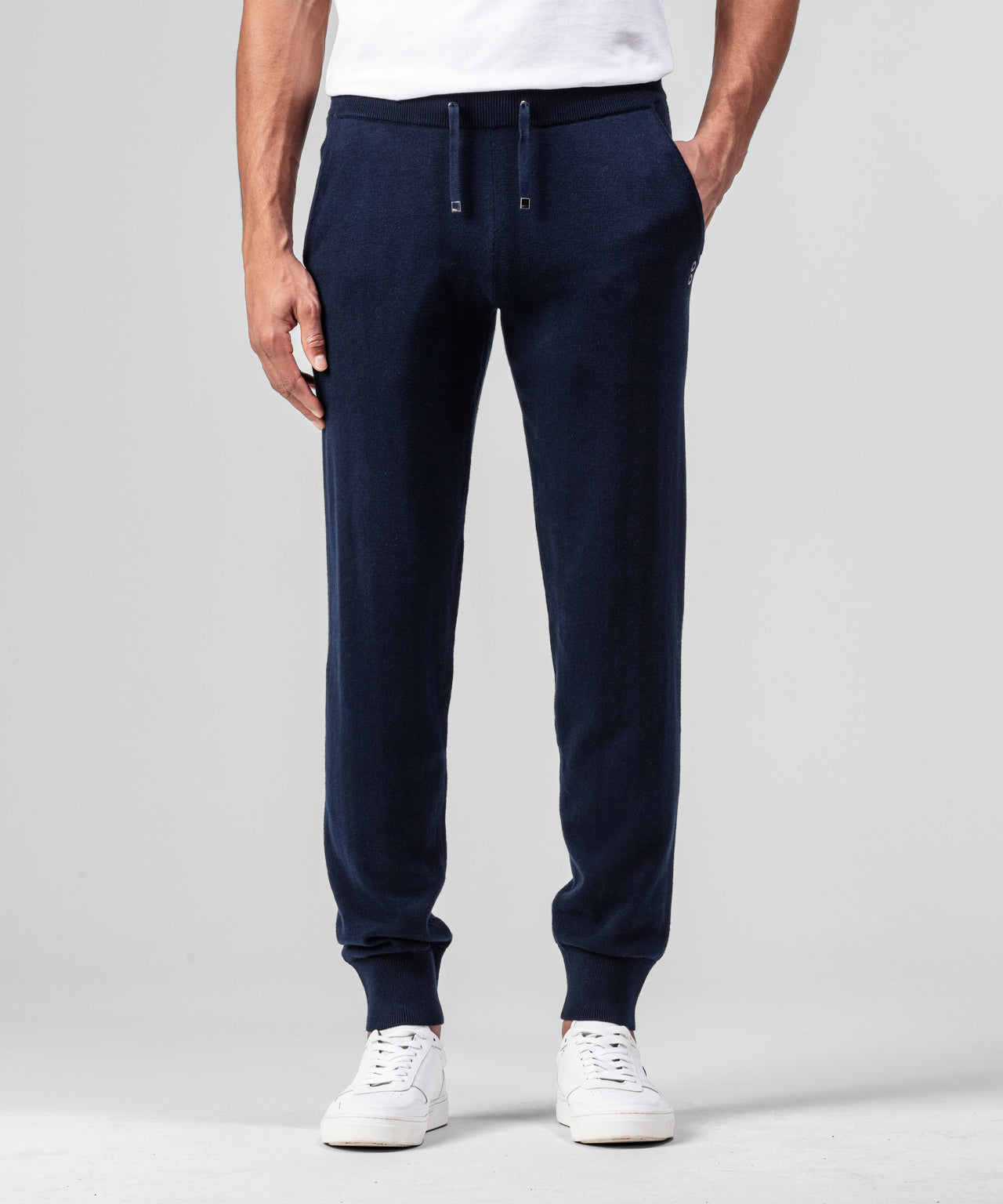 Cotton Cashmere Pants - navy