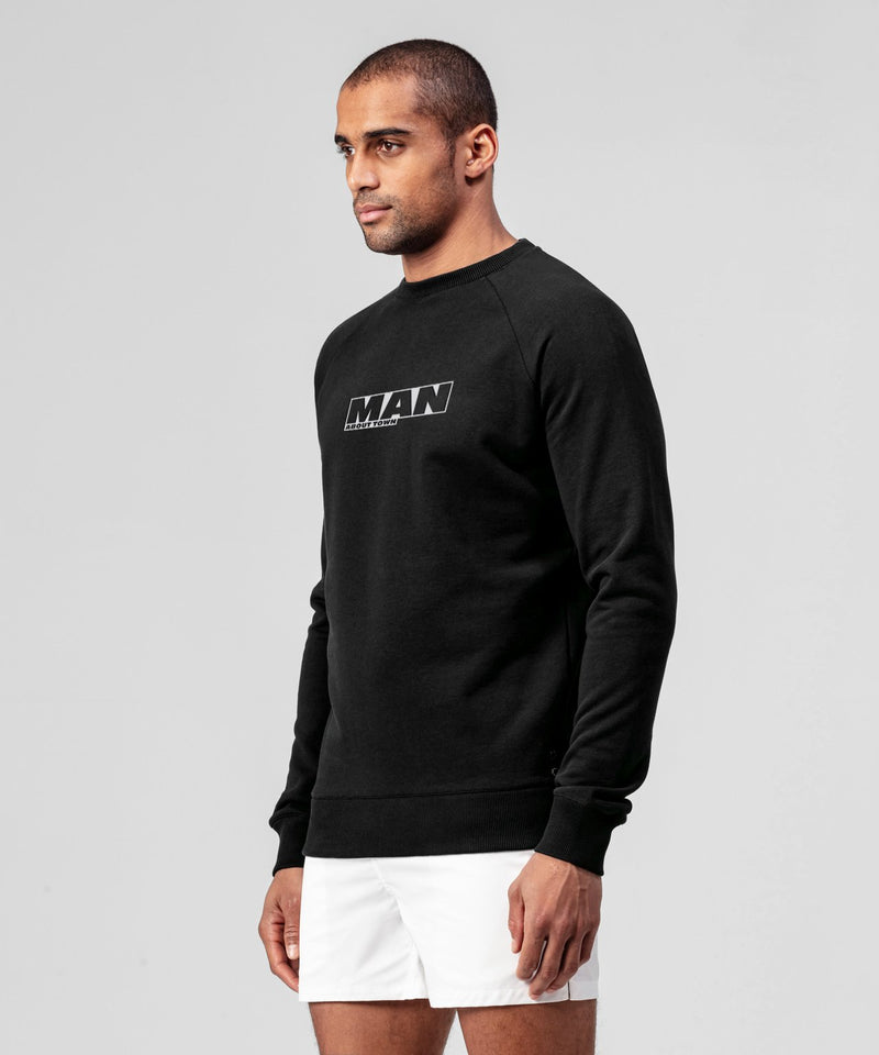 Sweatshirt MAN ABOUT TOWN - black
