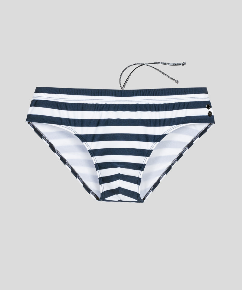 Swim Briefs Horizontal Stripes - navy/white