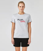 T-Shirt PLAY GIRL - grey melange