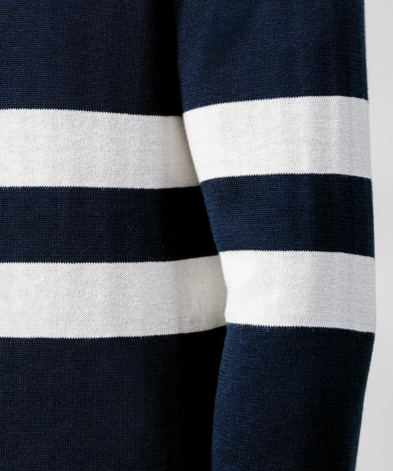Cotton Cashmere Sweatshirt - navy / white