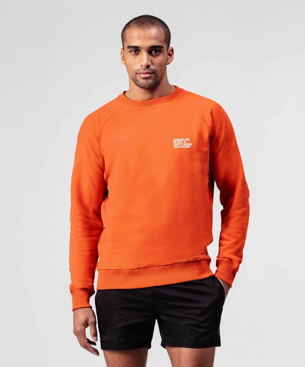 Sweatshirt DISCIPLINE - sunset orange
