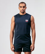 Sleeveless T-Shirt KICK ASS - navy