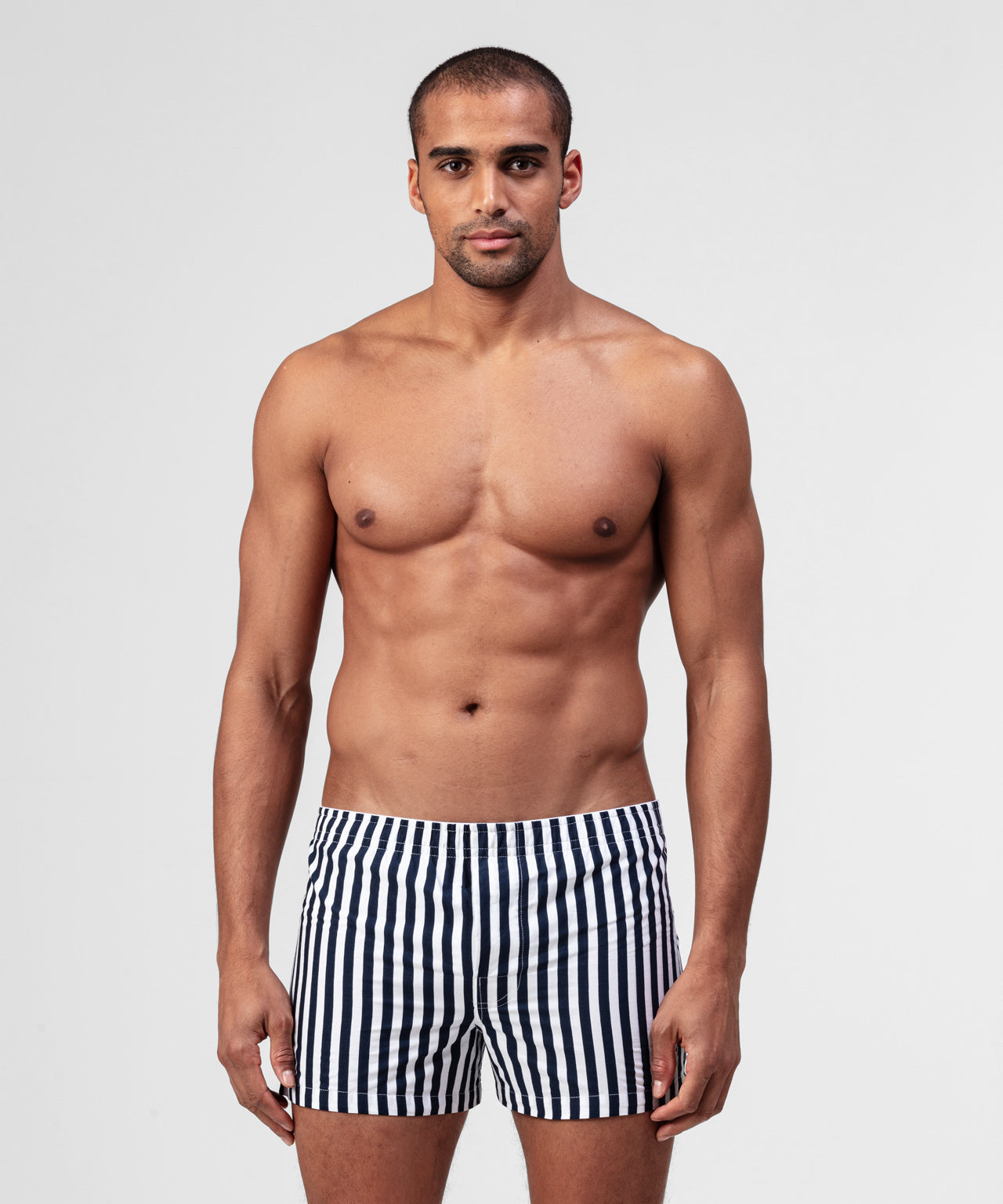 Striped Boxer Shorts - navy/white