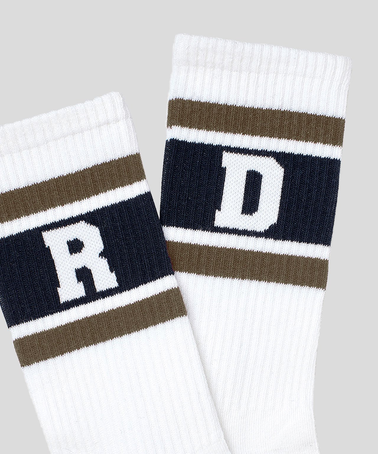 Sport Socks RD Stripes - white/green camp