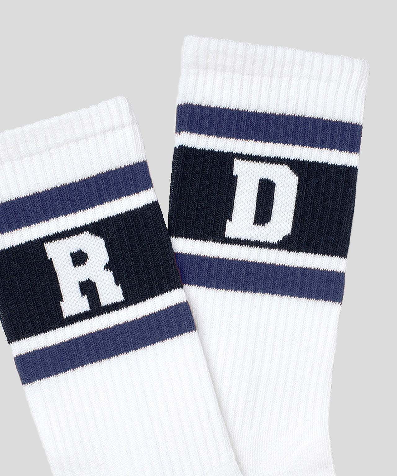 Sport Socks RD Stripes - white/sea blue