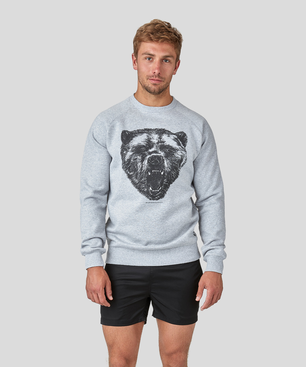 Sweatshirt Bear - grey melange