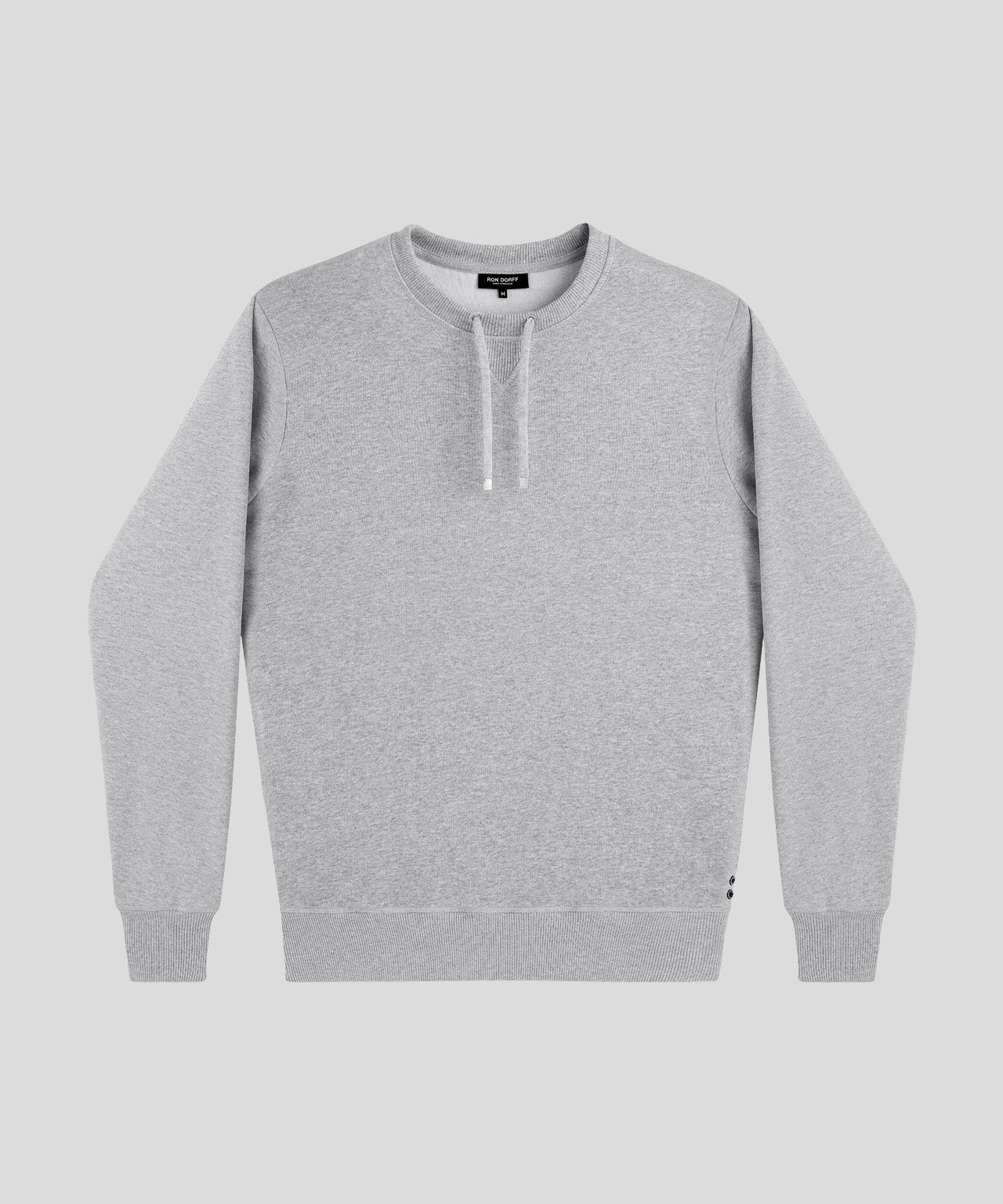 Sweatshirt Drawstring - grey melange