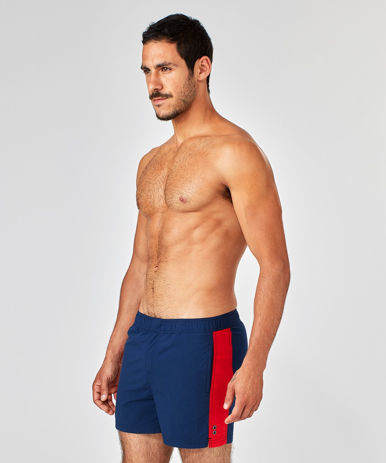 SwimGym Shorts Side Lines - navy / red