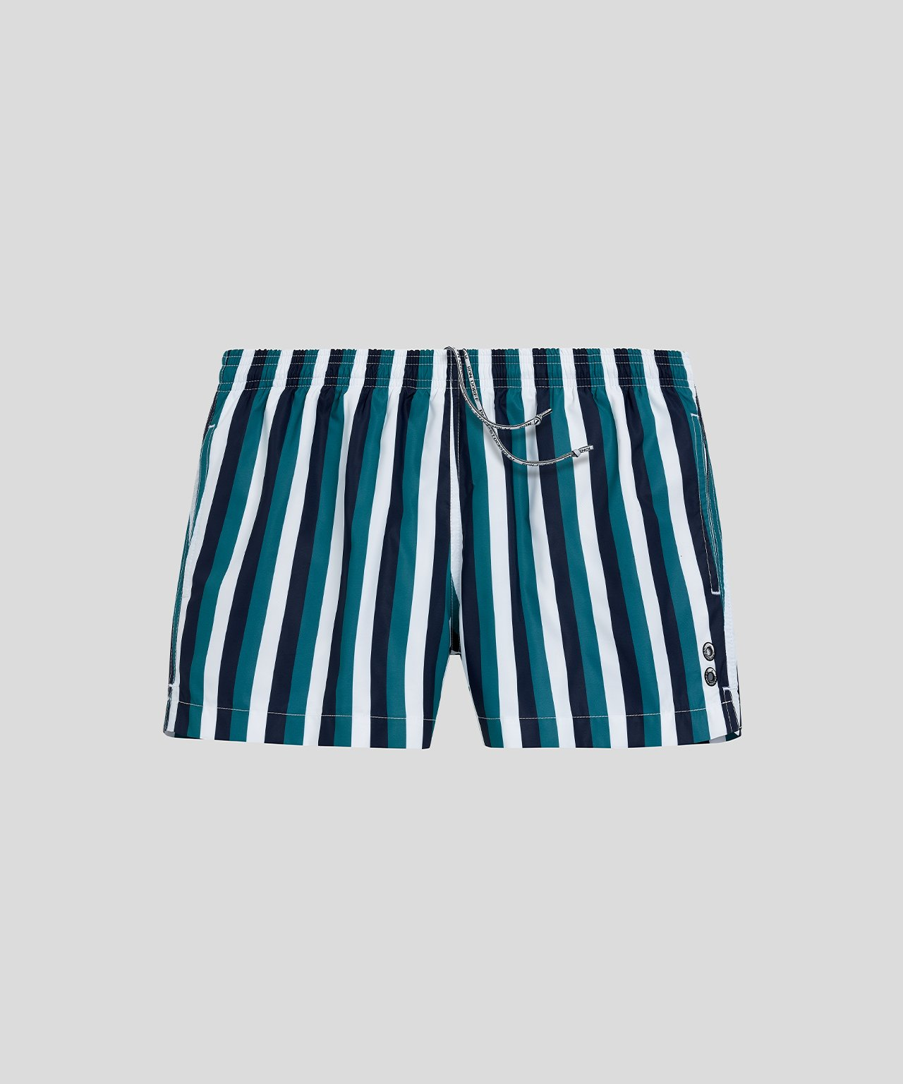 Swim Shorts Vertical Stripes - green light/white/navy
