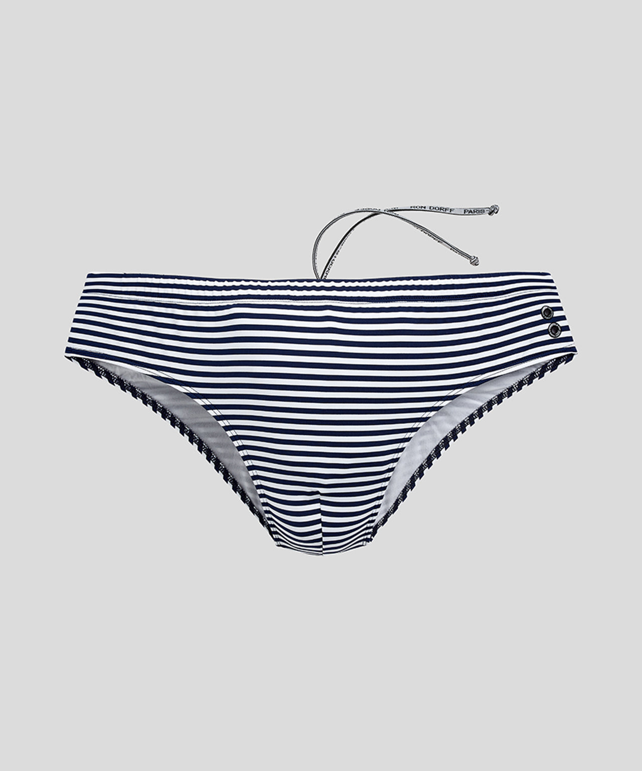 Swim Trunks Horizontal Thin Stripes - navy/white