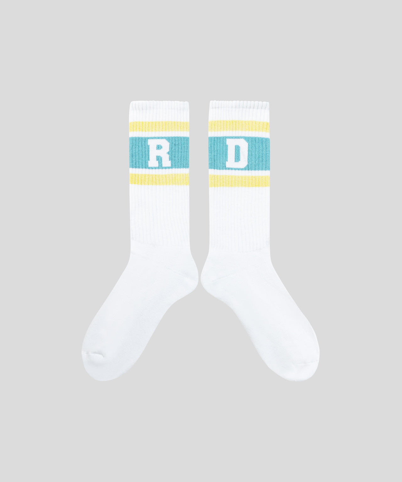 Sports Socks RD Stripes - sky yellow