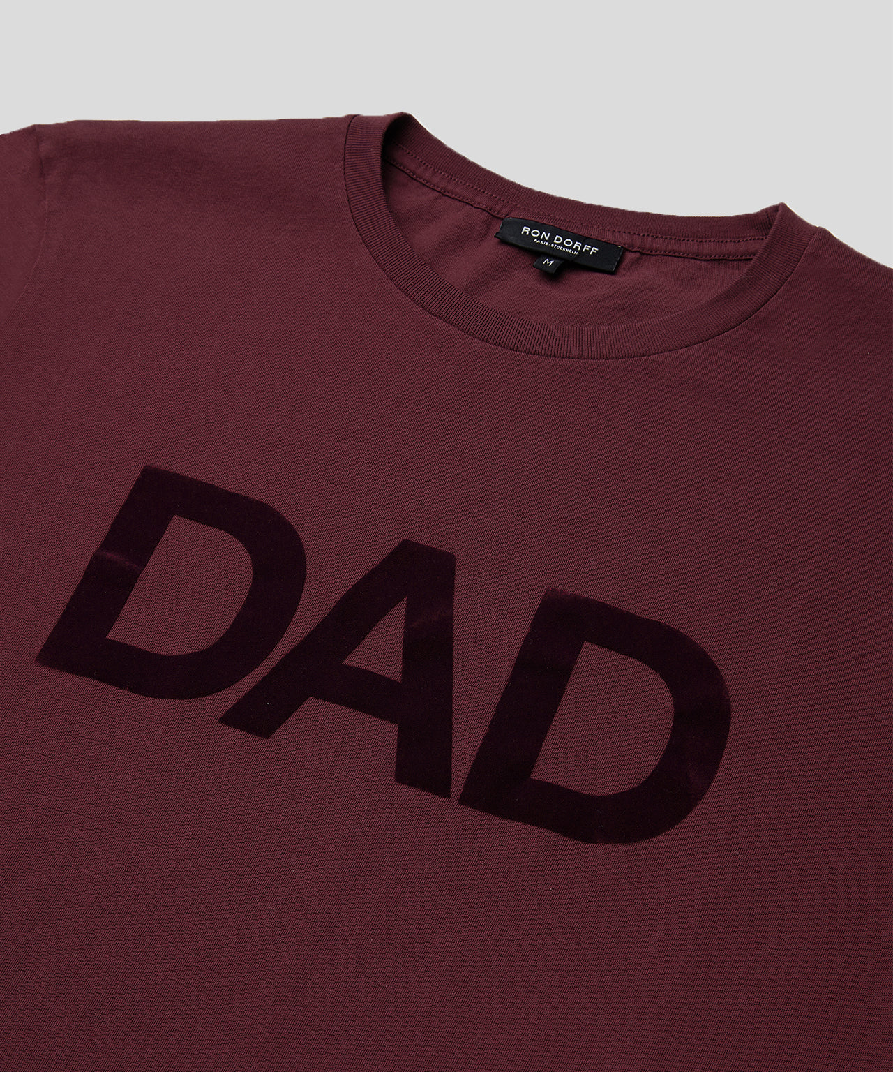 T-Shirt DAD - burgundy red