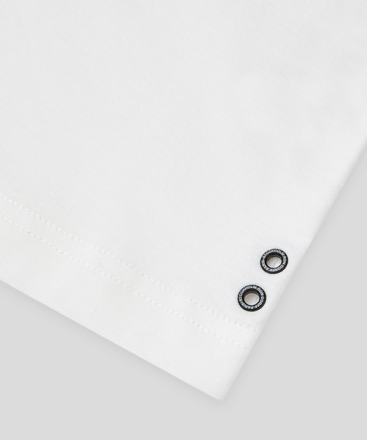 T-Shirt Eyelet Edition His For Her - white