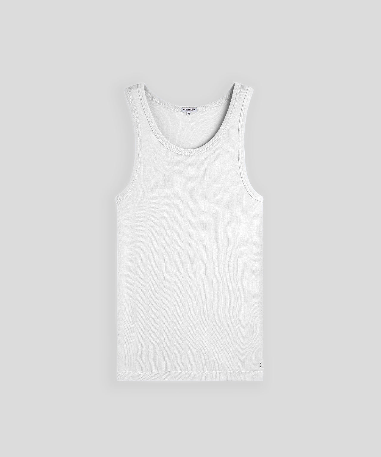 Ribbed Tank Top His For Her - white