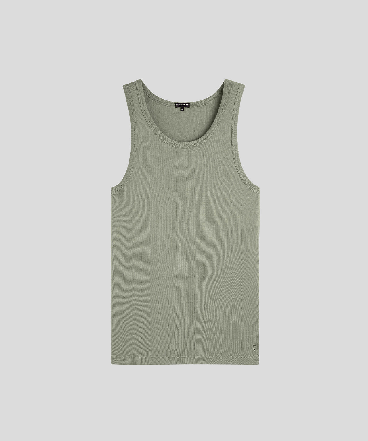 Ribbed Tank Top - light khaki