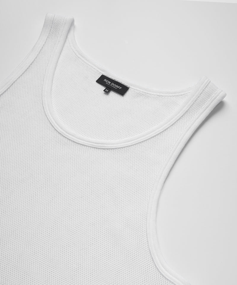 Underwear Tank Top Mesh His For Her - white