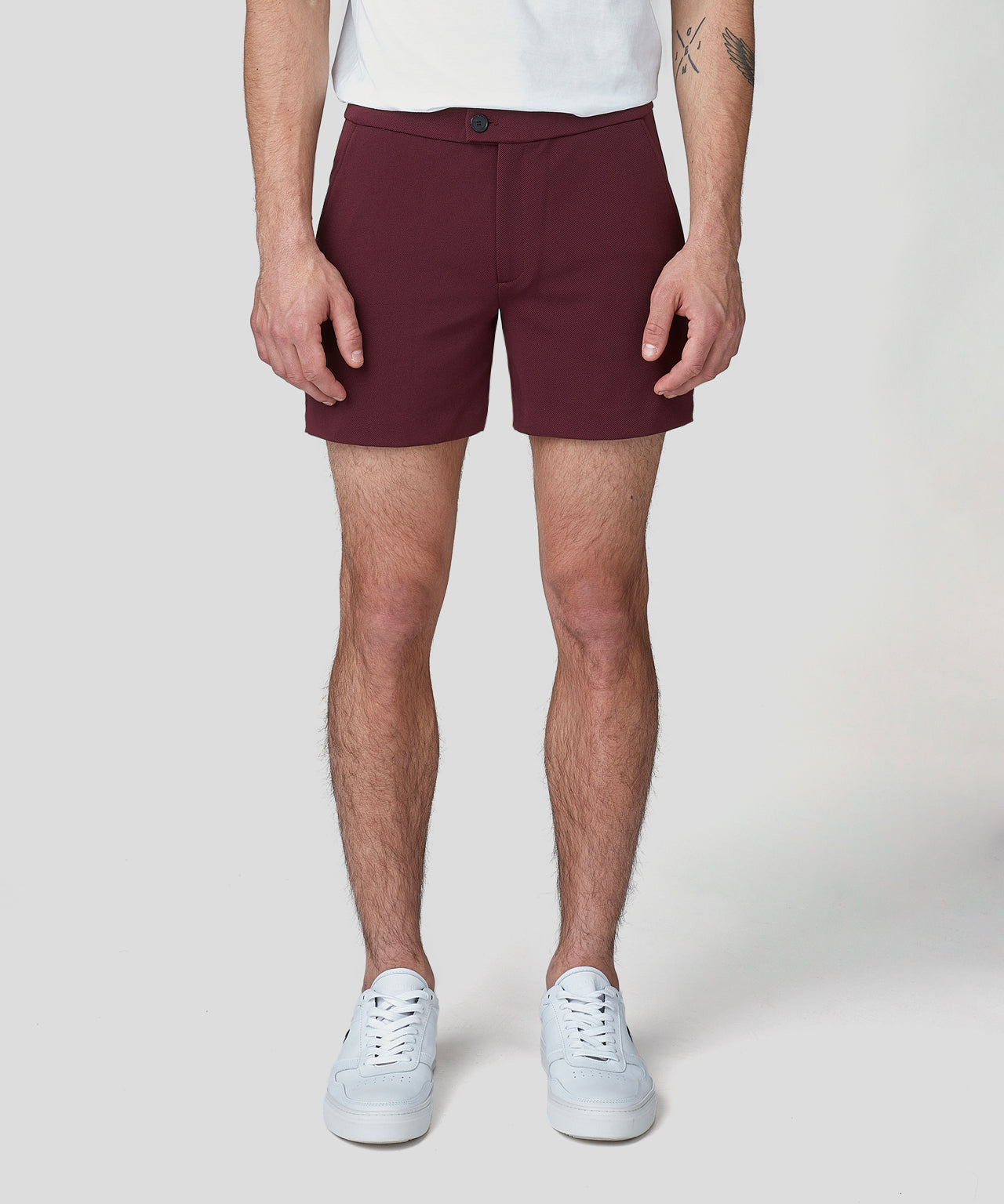 Tennis Shorts - burgundy red