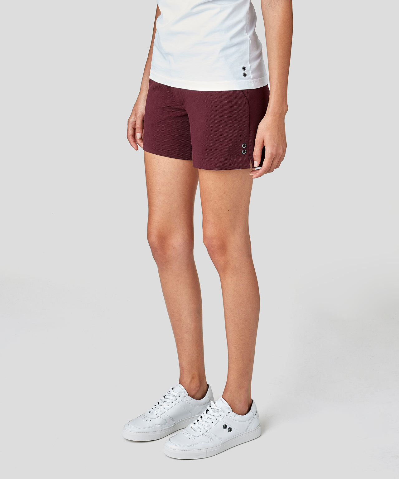 Tennis Shorts His For Her - burgundy red