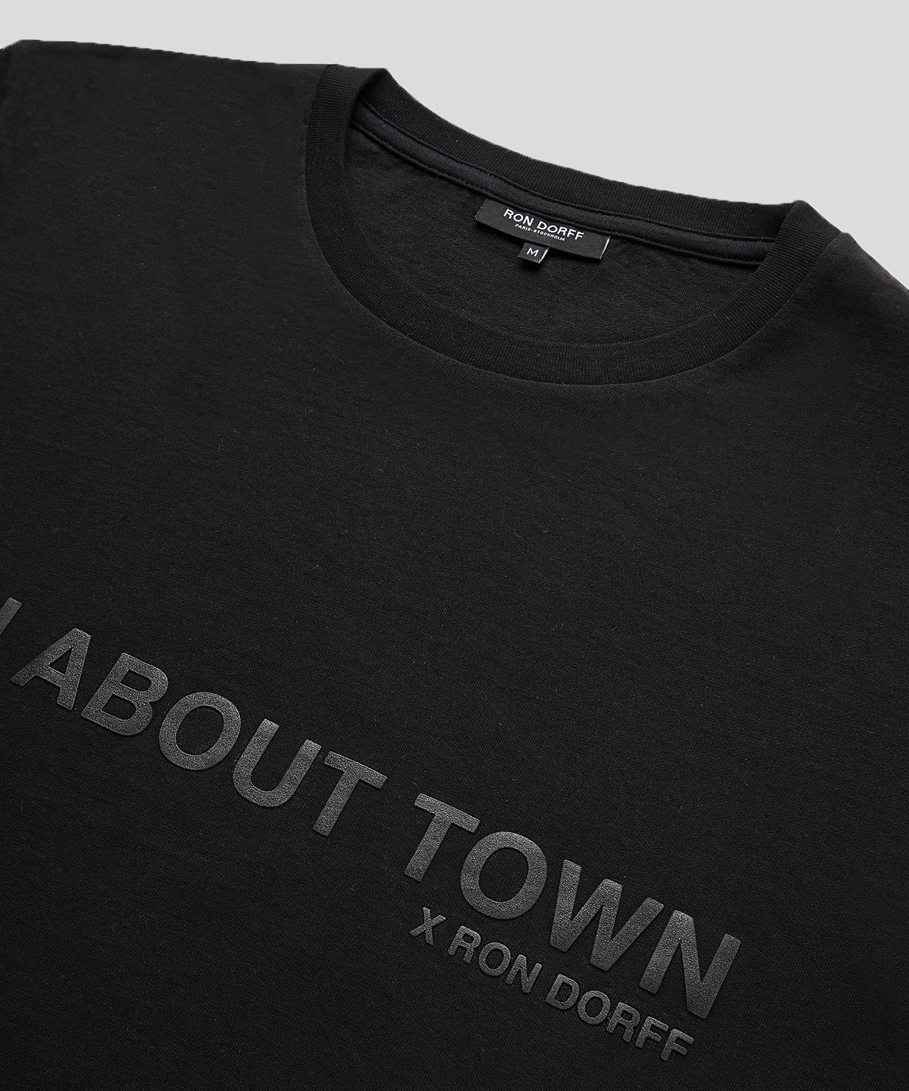 T-Shirt MAN ABOUT TOWN - black