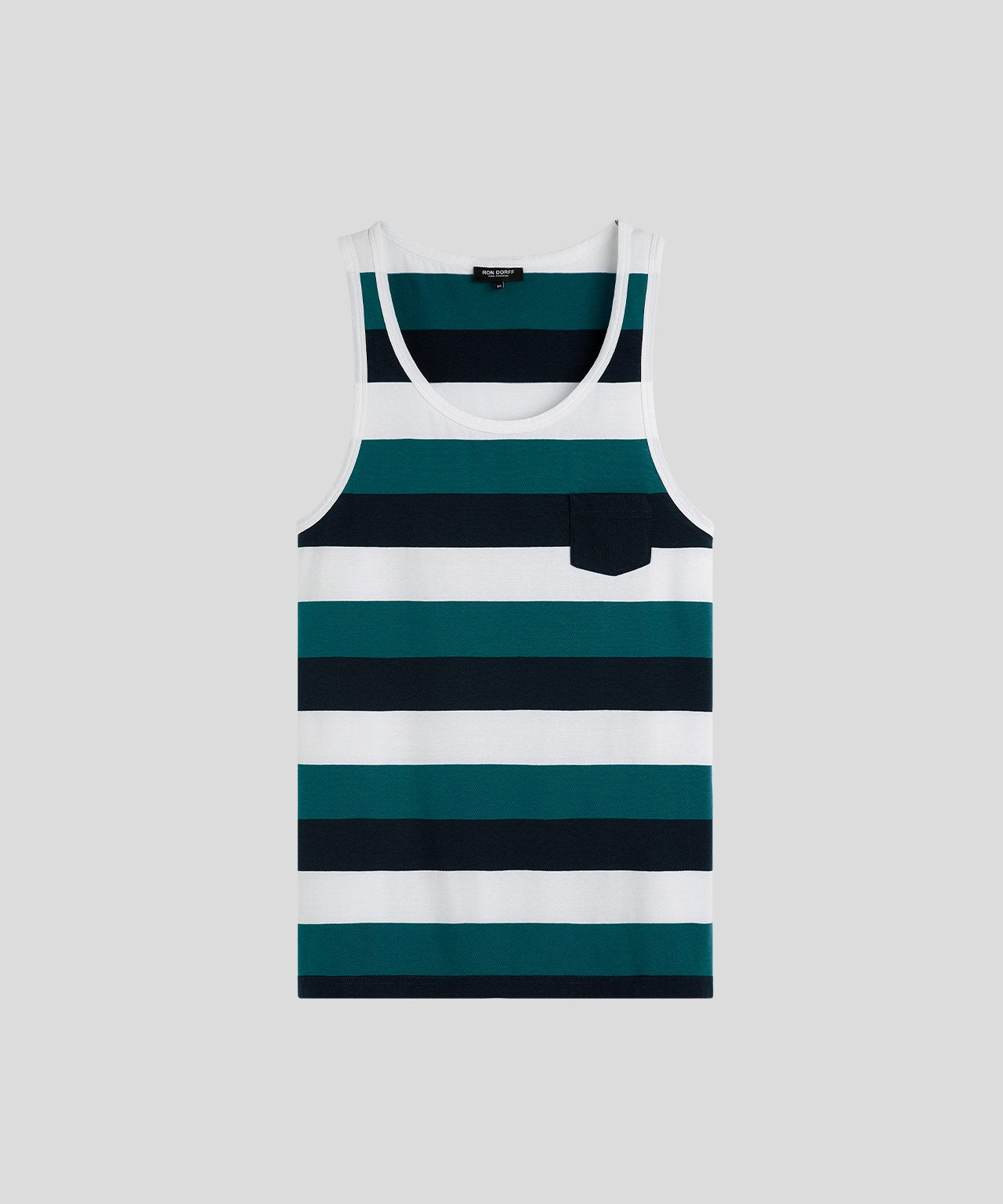Tank Top Wide Stripes - navy/green light