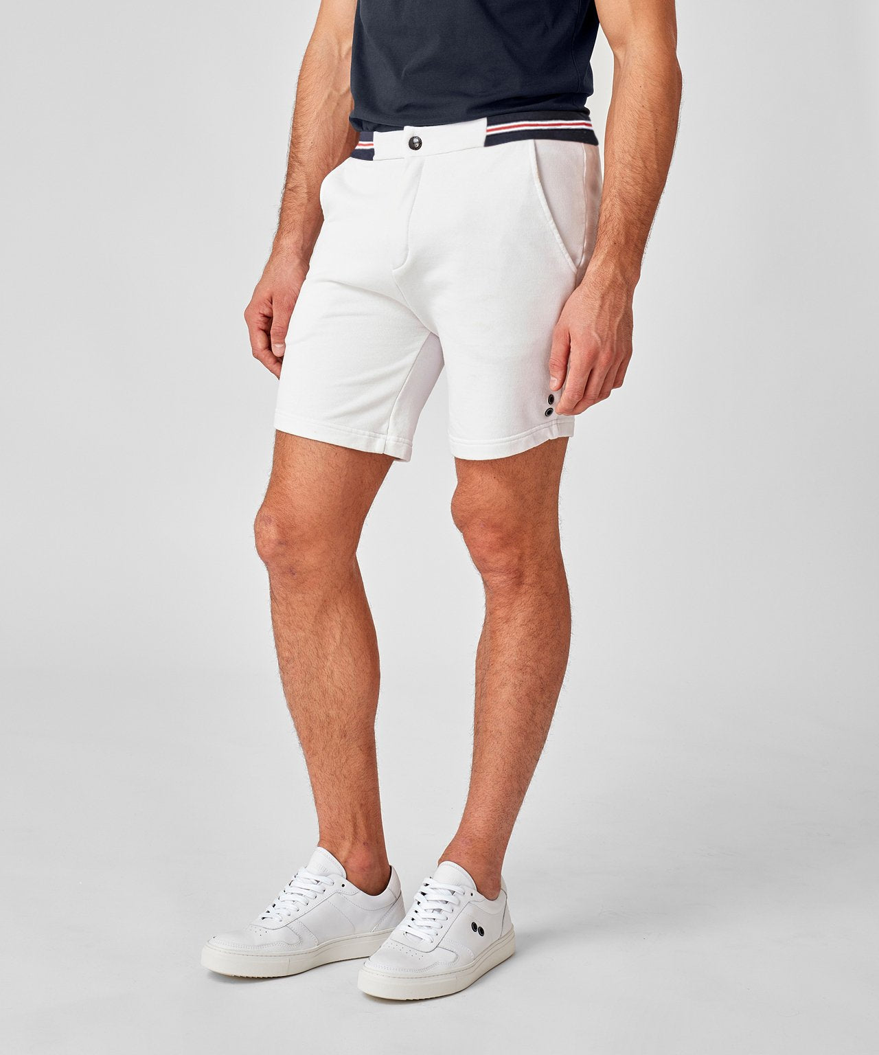 Urban Shorts Waist Stripes - off white