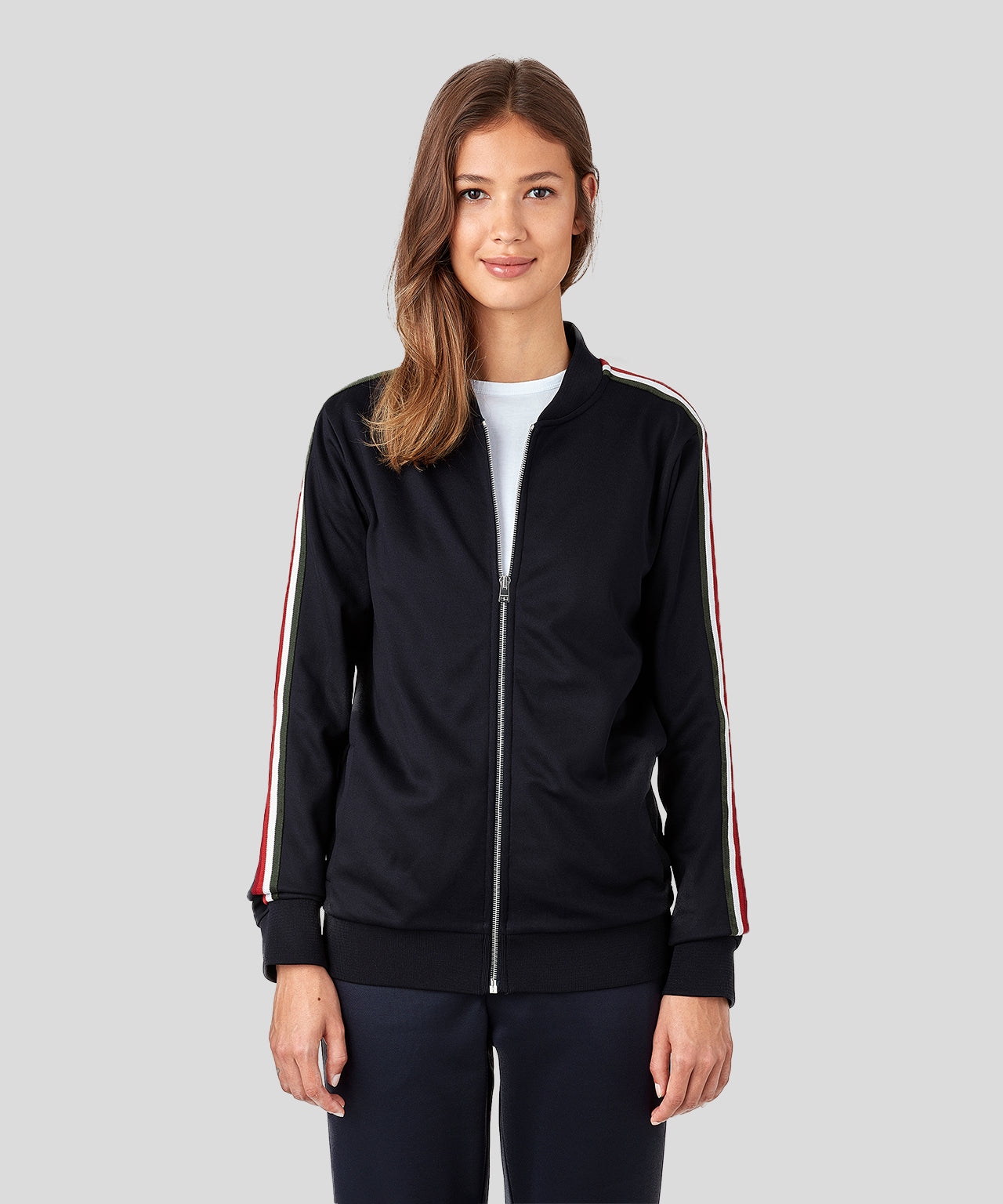 Striped Tennis Jacket His For Her - navy