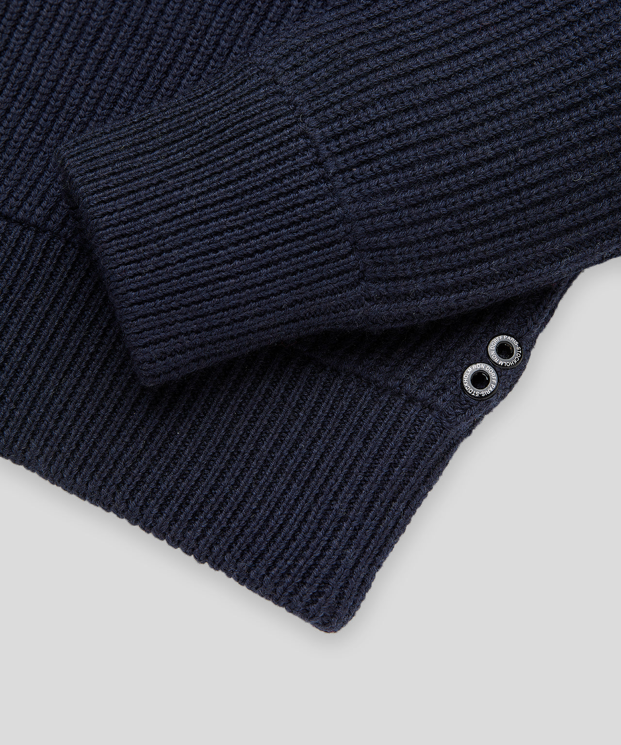 Zipped Wool Sweater - navy