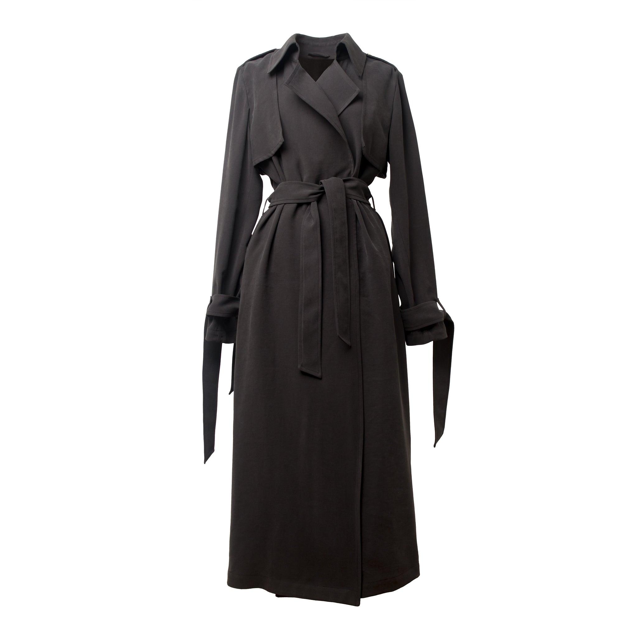 KISTELEK Charcoal Trench Coat