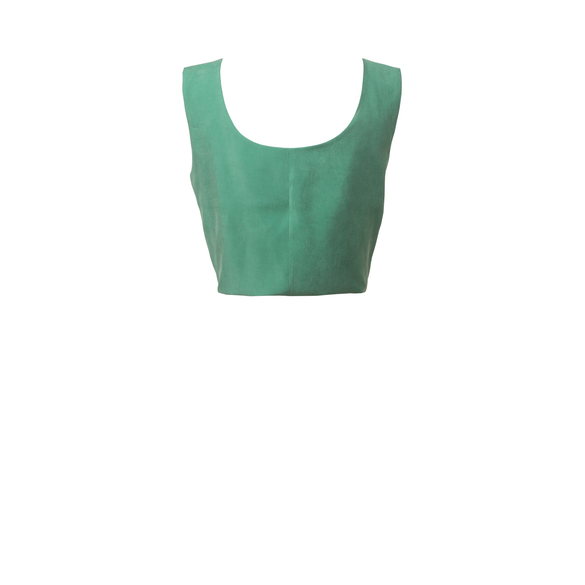 TATA Lucky Green Tie Hem Top