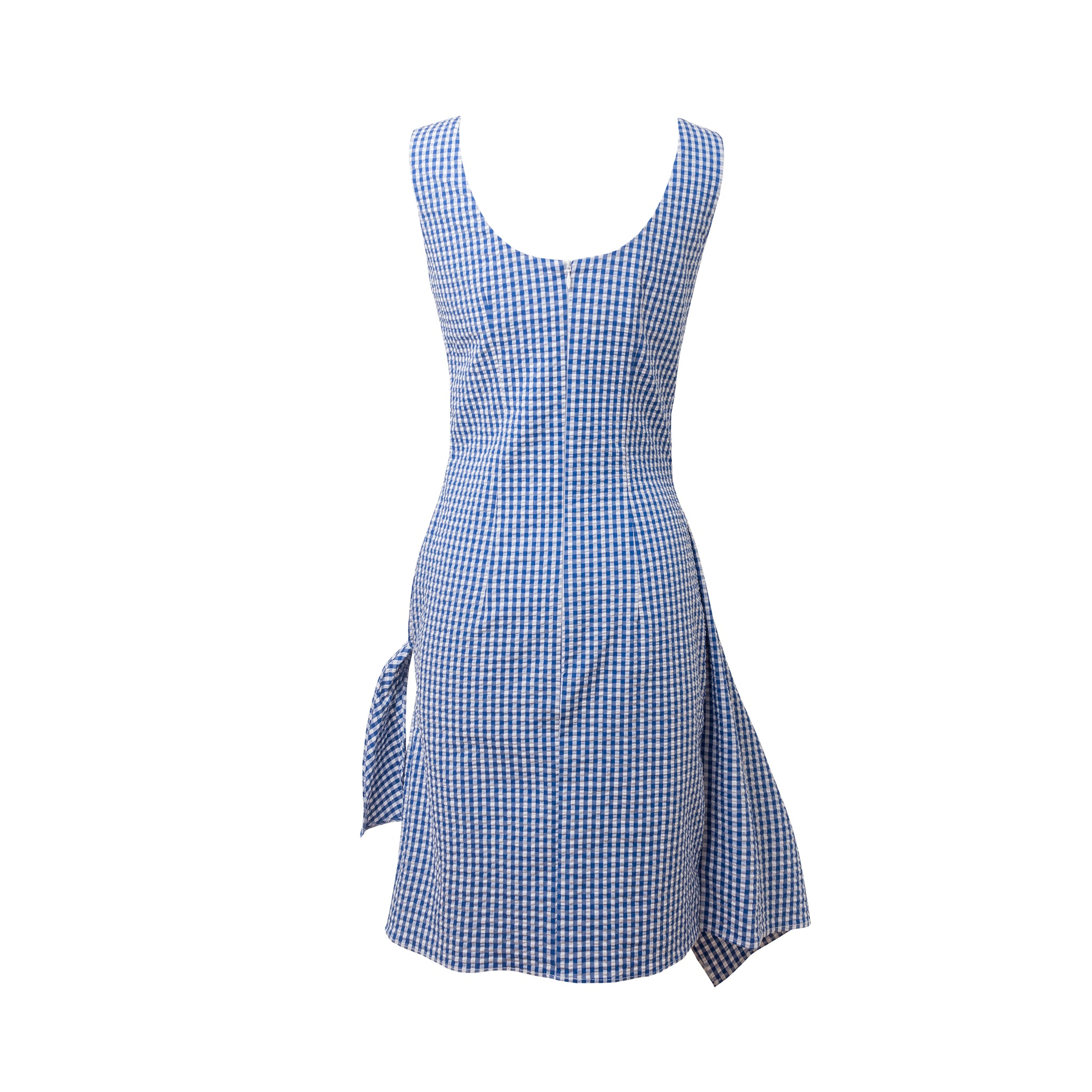 VECSES Blue & White Overlap Skirt Dress