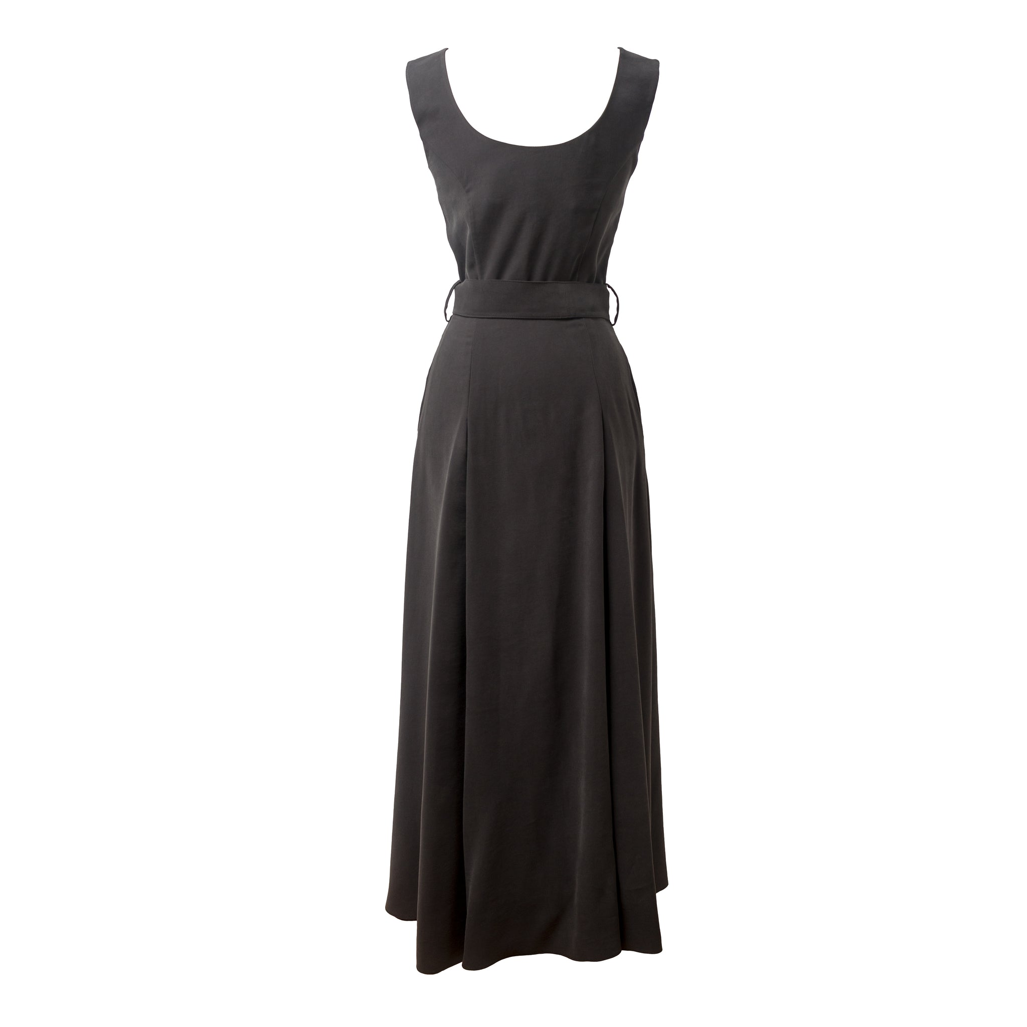 BALASTYA Charcoal Multi Slits Dress